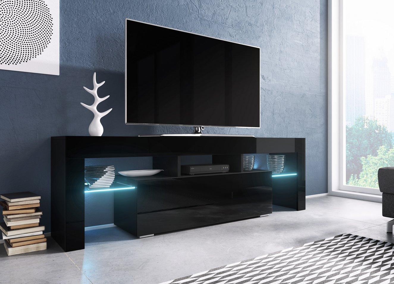 Cama TV stolek TORO 138 Barva: černá