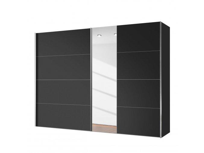 schwebetuerenschrank willows schwarz spiegelglas 250 cm 2 tuerig 4391676