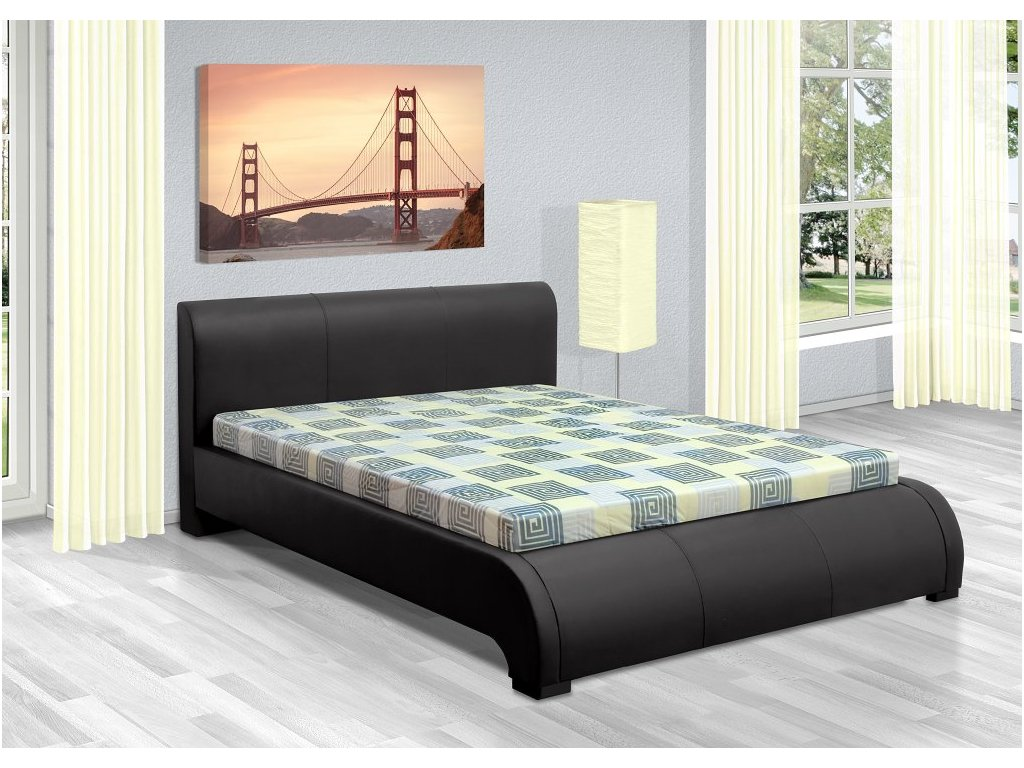 Luxusná posteľ 180x200 cm Seina s úložným priestorom