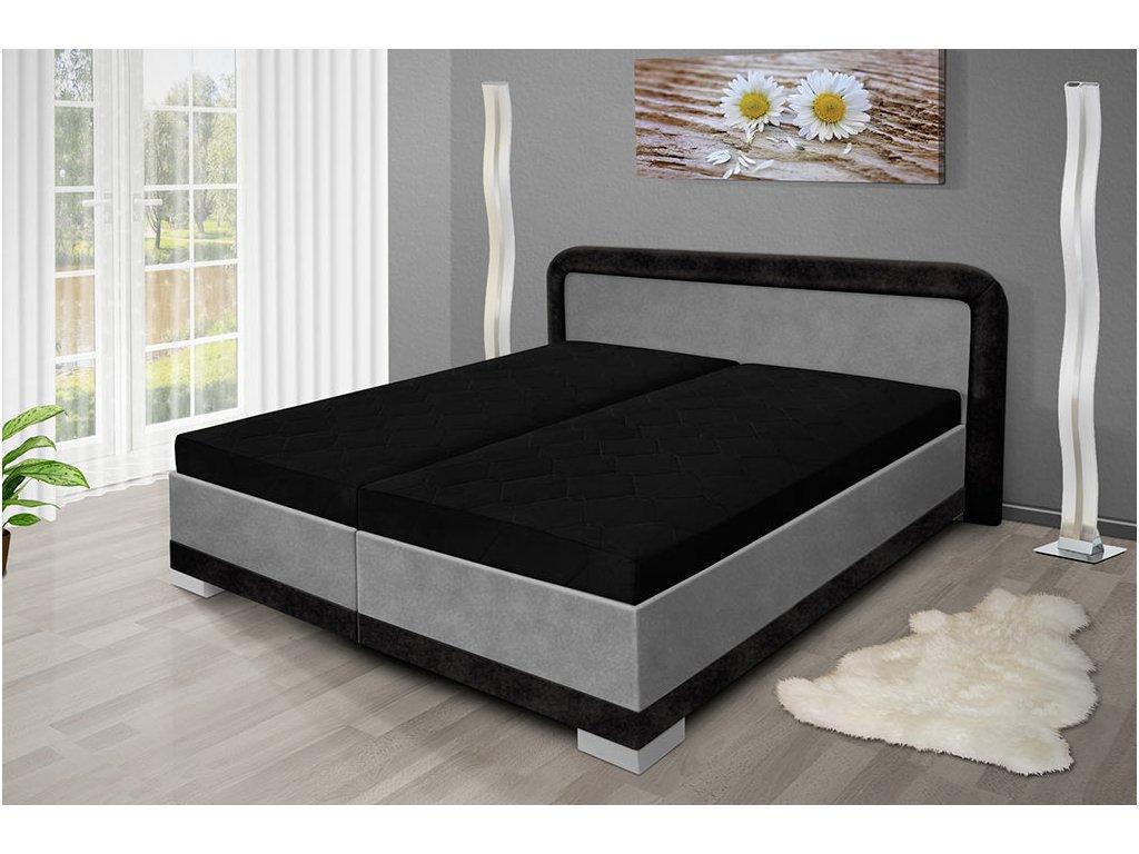 Manželská posteľ s úložným priestorom Jaro 200x160 cm šedá