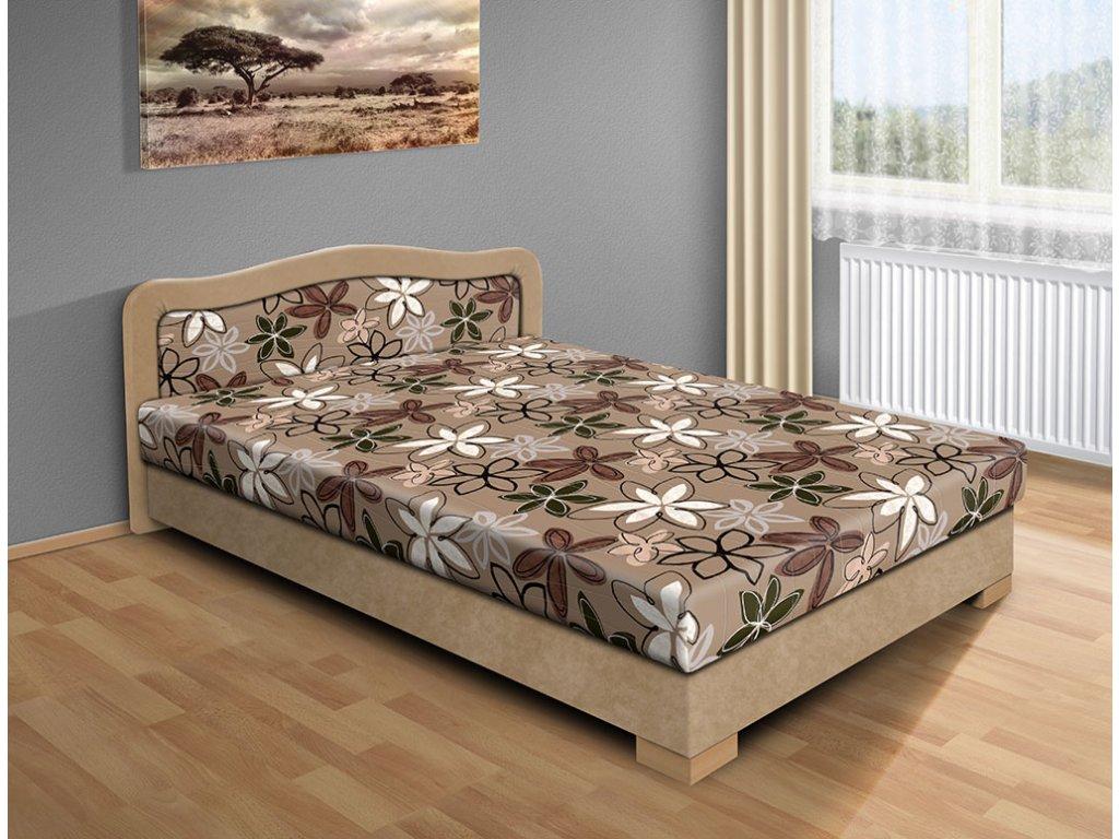 Lacná posteľ s úložným priestorom Apollo 120 x 200 cm béžová