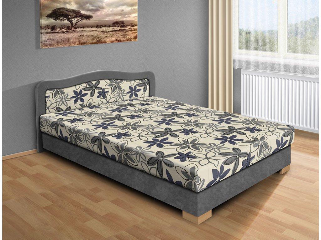 Lacná posteľ s úložným priestorom Apollo 140 x 200 cm sivá
