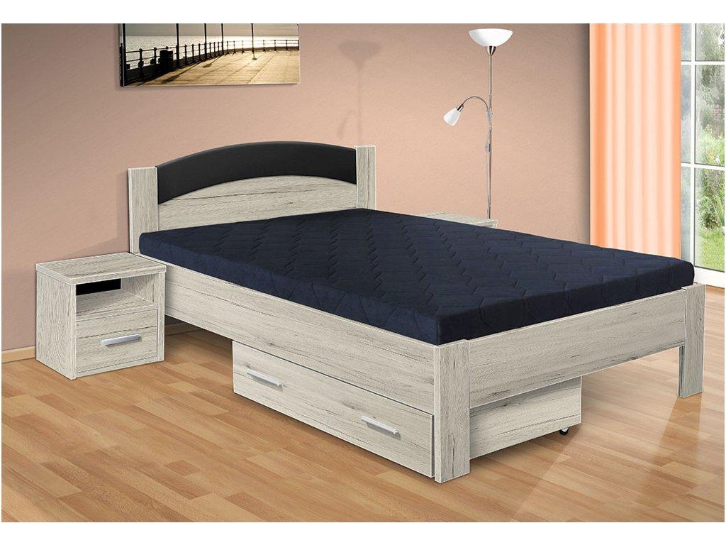 drevená posteľ Jason 200x140 cm san remo