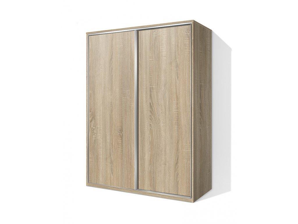 Šatníková skriňa s posuvnými dverami Alfa 26 buk