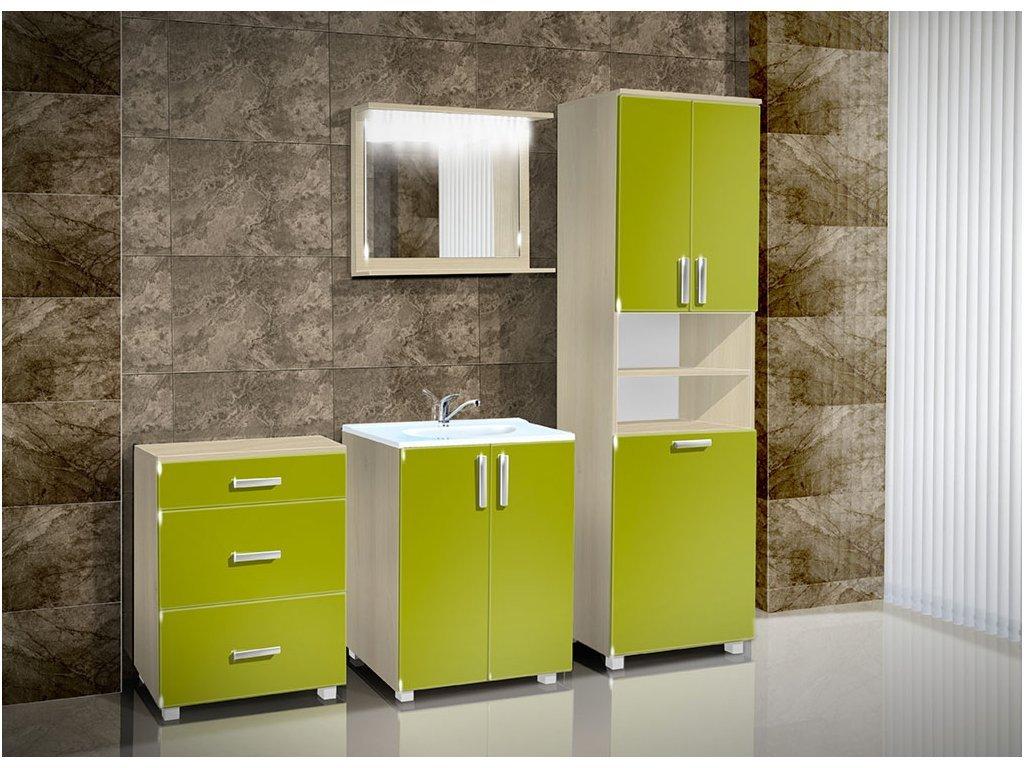 Kúpeľňová skrinka s košom na bielizeň K19