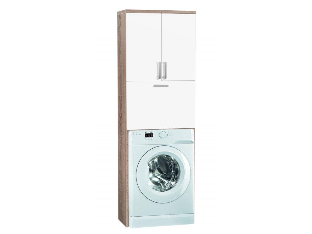 Vysoká kúpeľňová skrinka nad práčku K21
