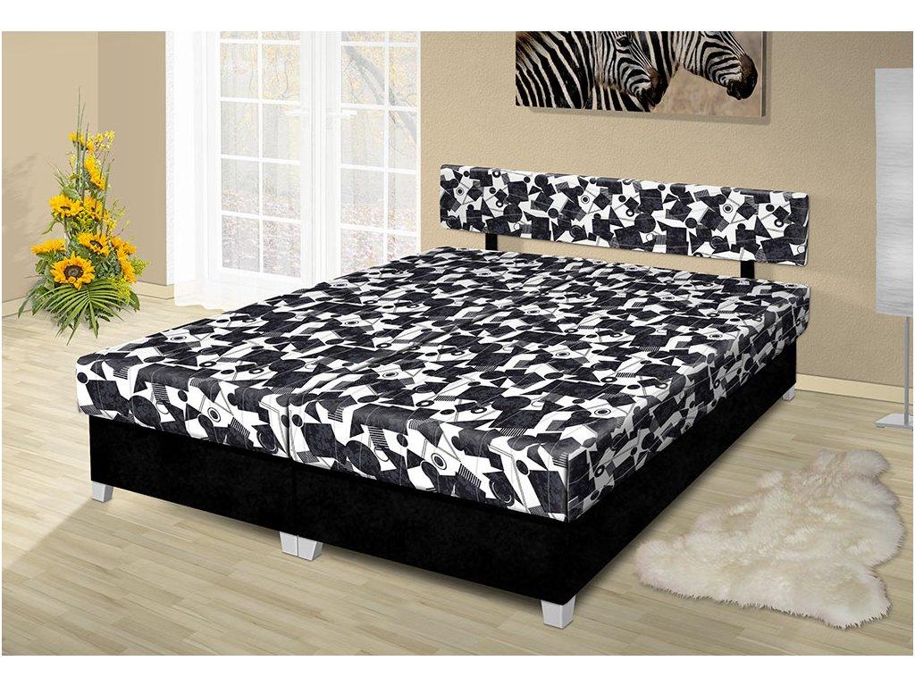Manželská posteľ s úložným priestorom Adéla 200x160 cm čierná