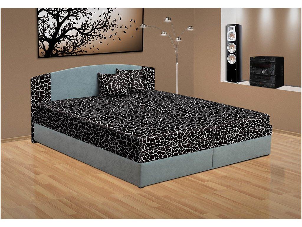 Manželská posteľ s úložným priestorom Lora 200x160 cm šedá