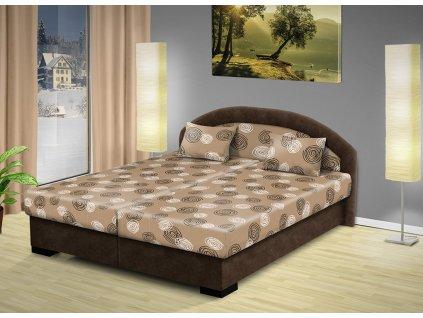 Lacná manželská posteľ s úložným priestorom Lenka 200x170 cm modrá
