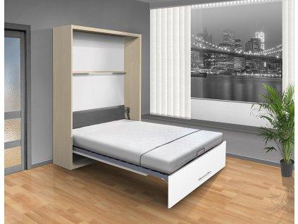 Sklápacia posteľ VS 1054 P - 200x140 cm breza