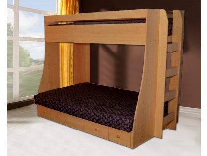 P4 Palanda a poschodová posteľ so schodíkmi