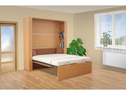 sklápacie výklopná posteľ 3070 buk