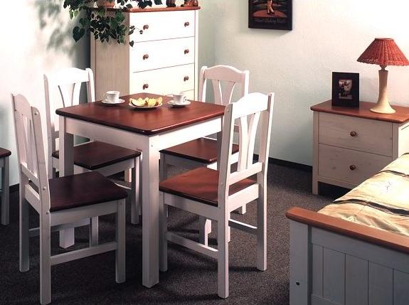 Anny - bílo hnědý nábytek