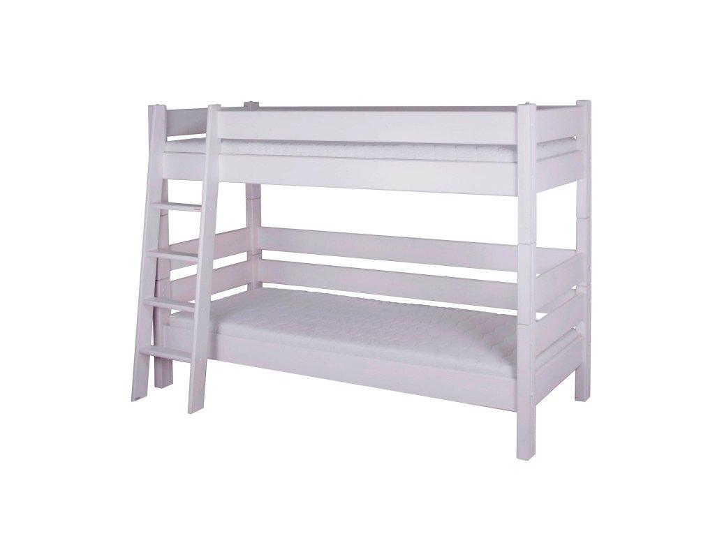 Gazel Sendy etážová postel 180 cm výška smrk bílá