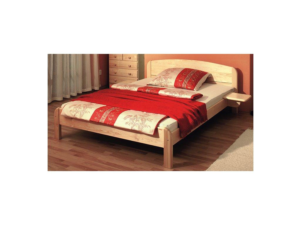 Gazel BERGHEN dřevěná postel N 160 přírodní