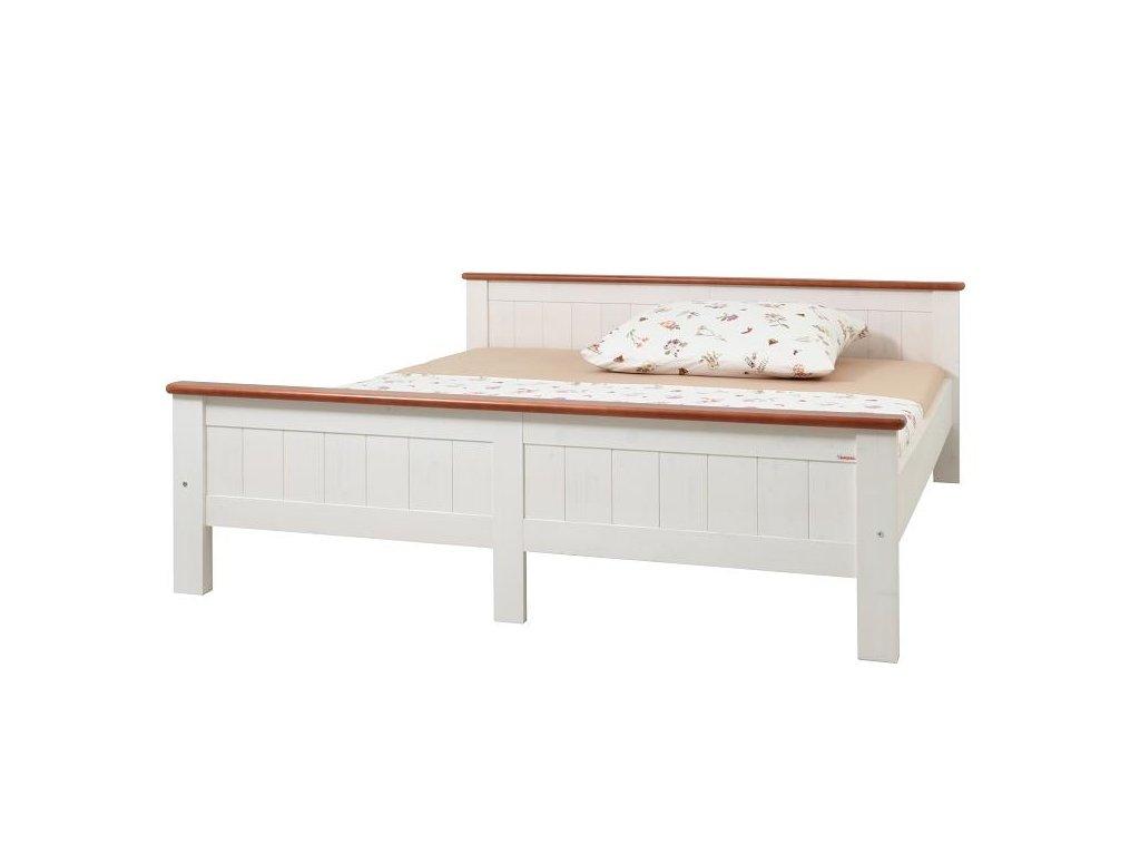 Gazel ANNY postel 180 bílo-hnědá