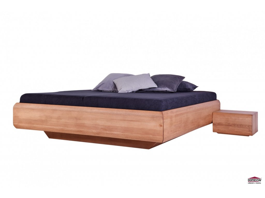 Manželská postel LEVITY buk 180 cm