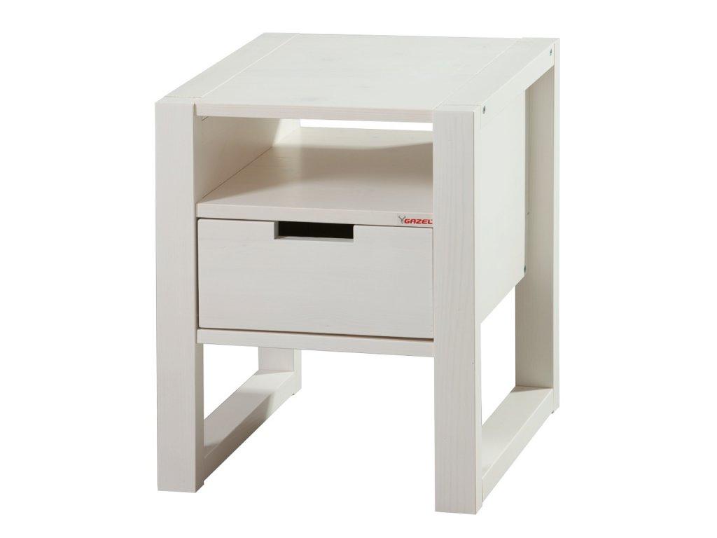 Gazel Rhino noční stolek bílý
