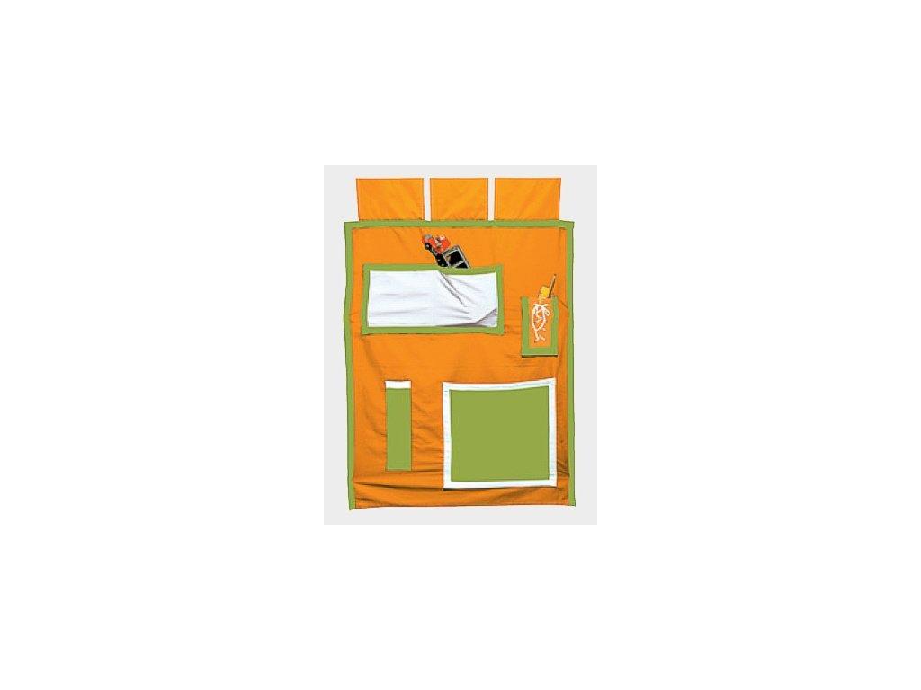 Látková kapsář Gazel oranžovo-zelený