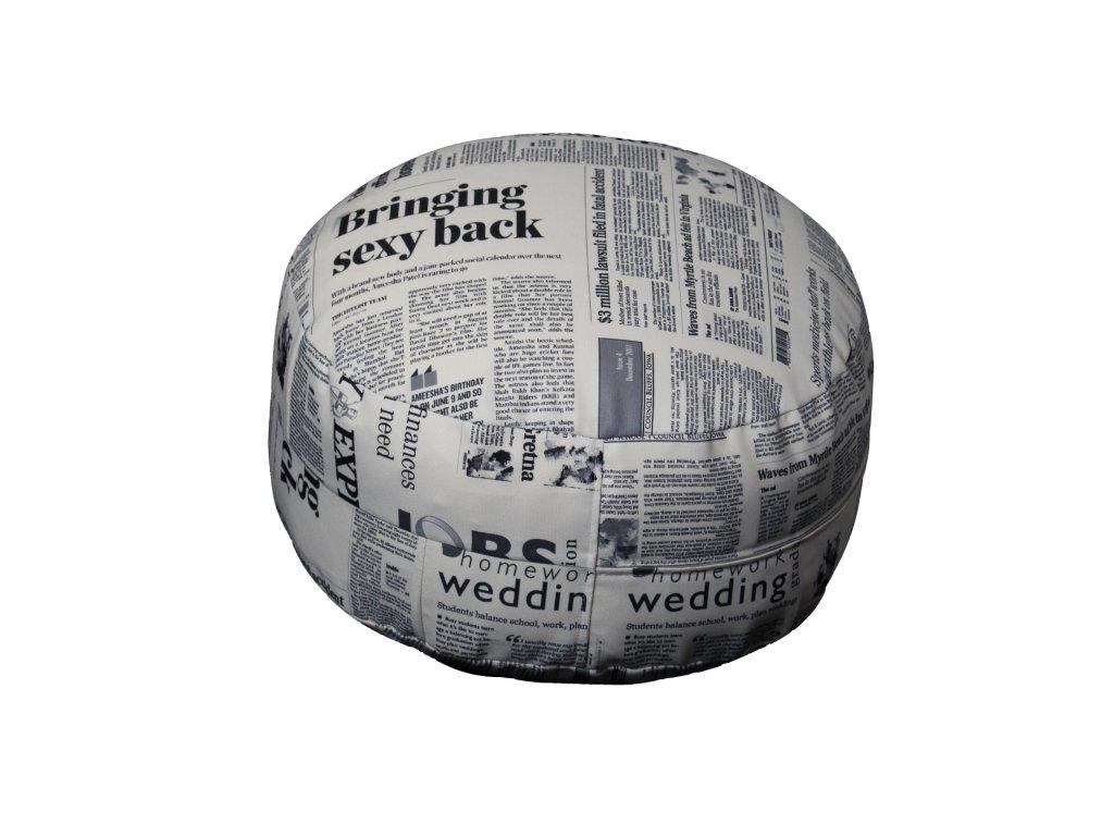 Kolinger sedací polštář - noviny potisk