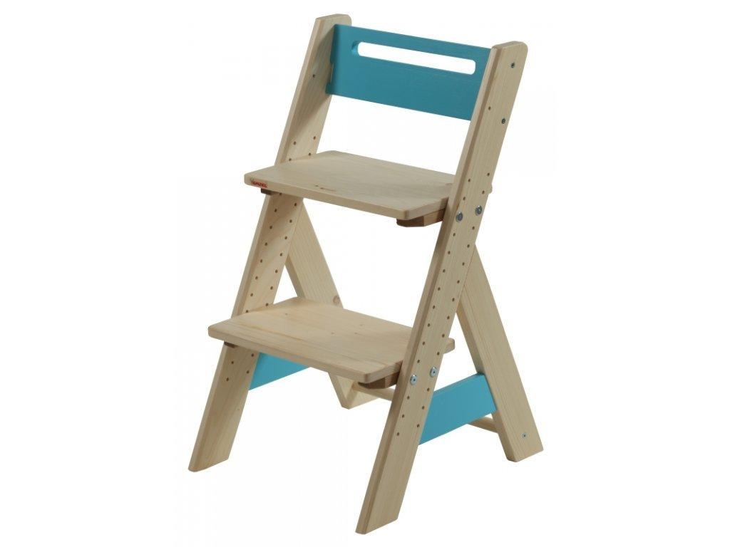 Gazel ZUZU dětská rostoucí židle modrá
