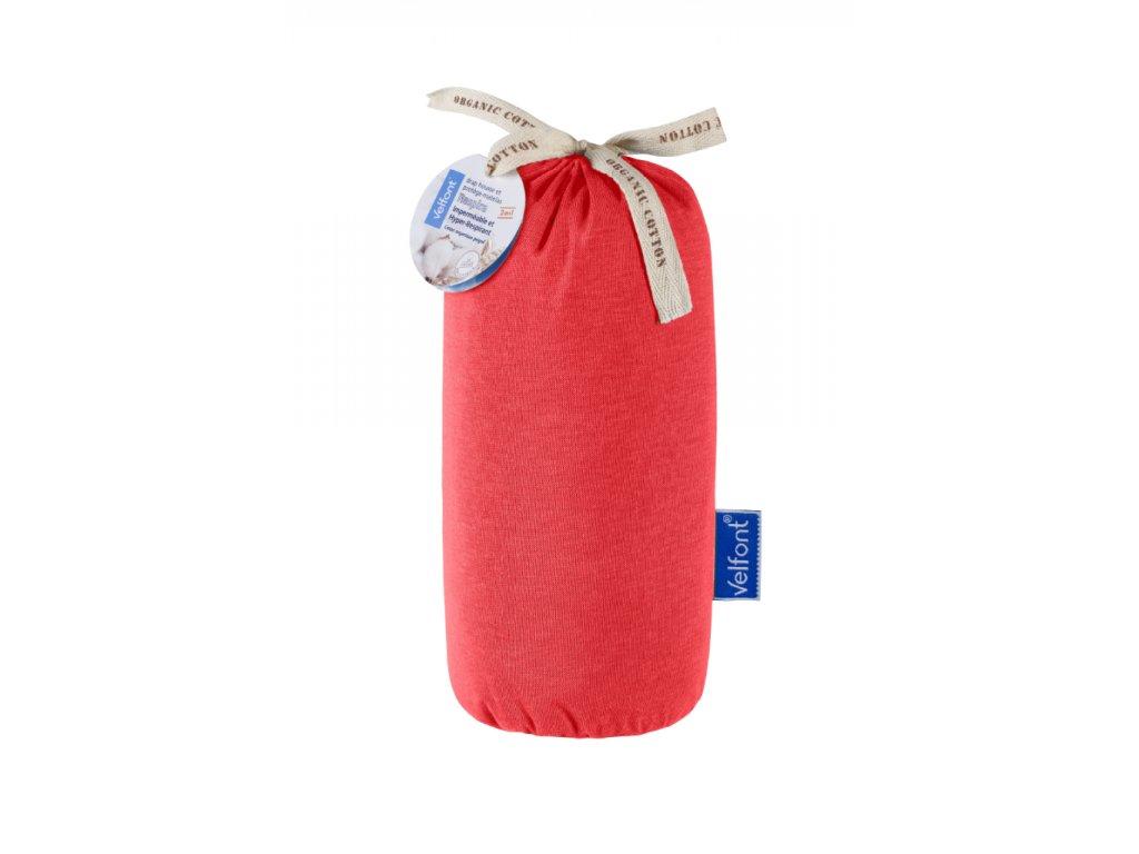 Velfont Respira matracový chránič 90x200 cm - korálově červená