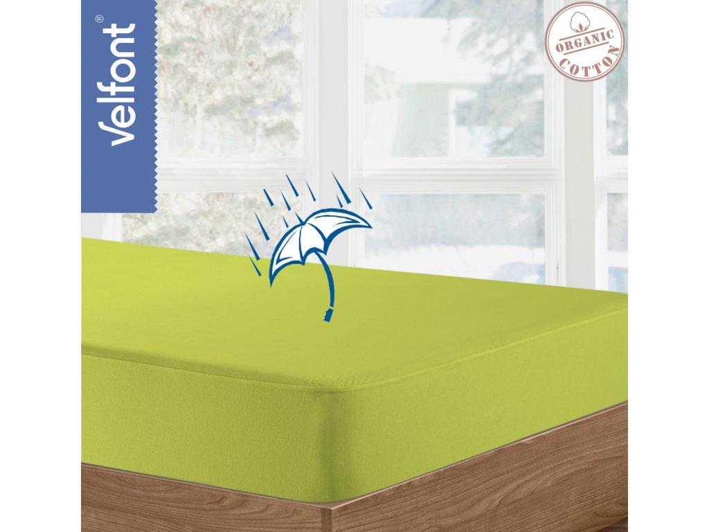 Velfont Respira matracový chránič 120x220 cm - pistáciová