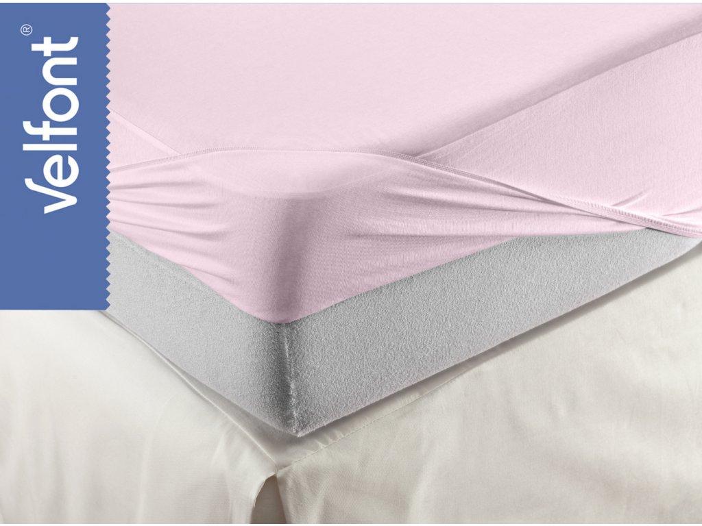 Velfont HPU Respira prostěradlo a matracový chránič 180x200 cm - světle růžová