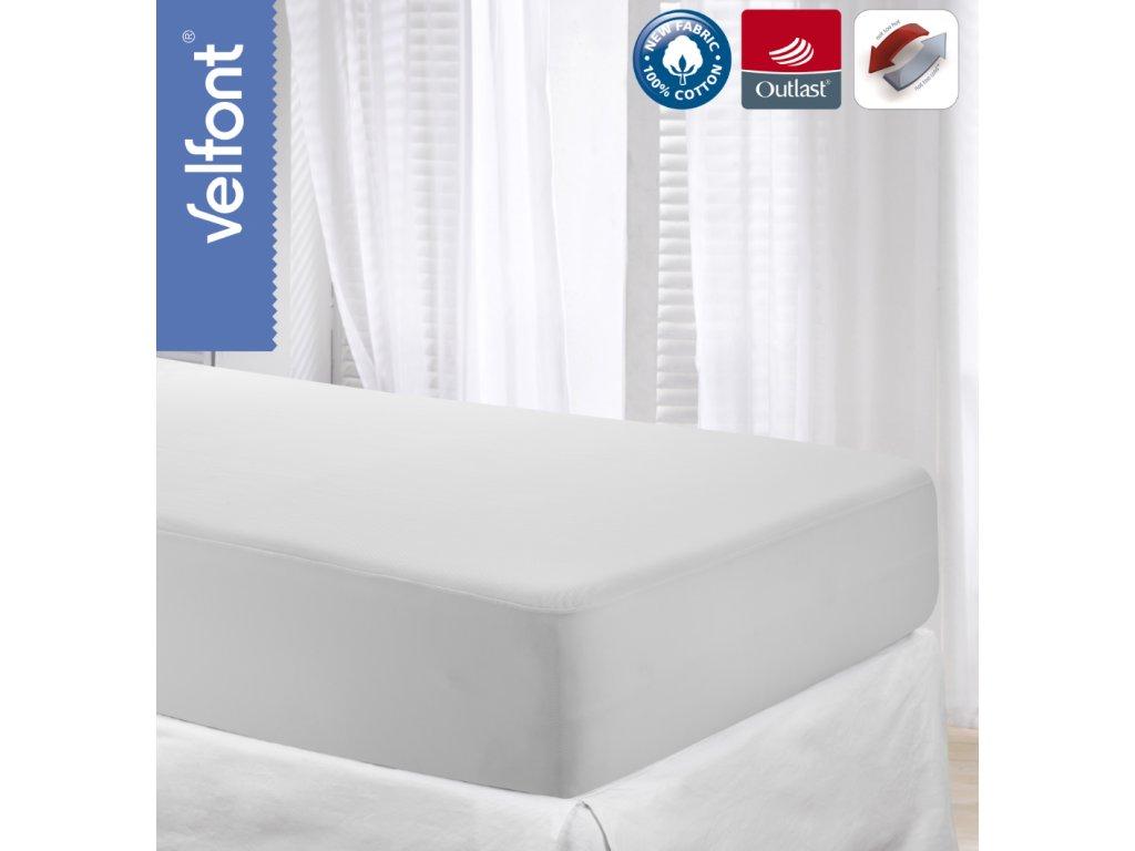 Velfont Outlast termoregulační prostěradlo 200x220 cm
