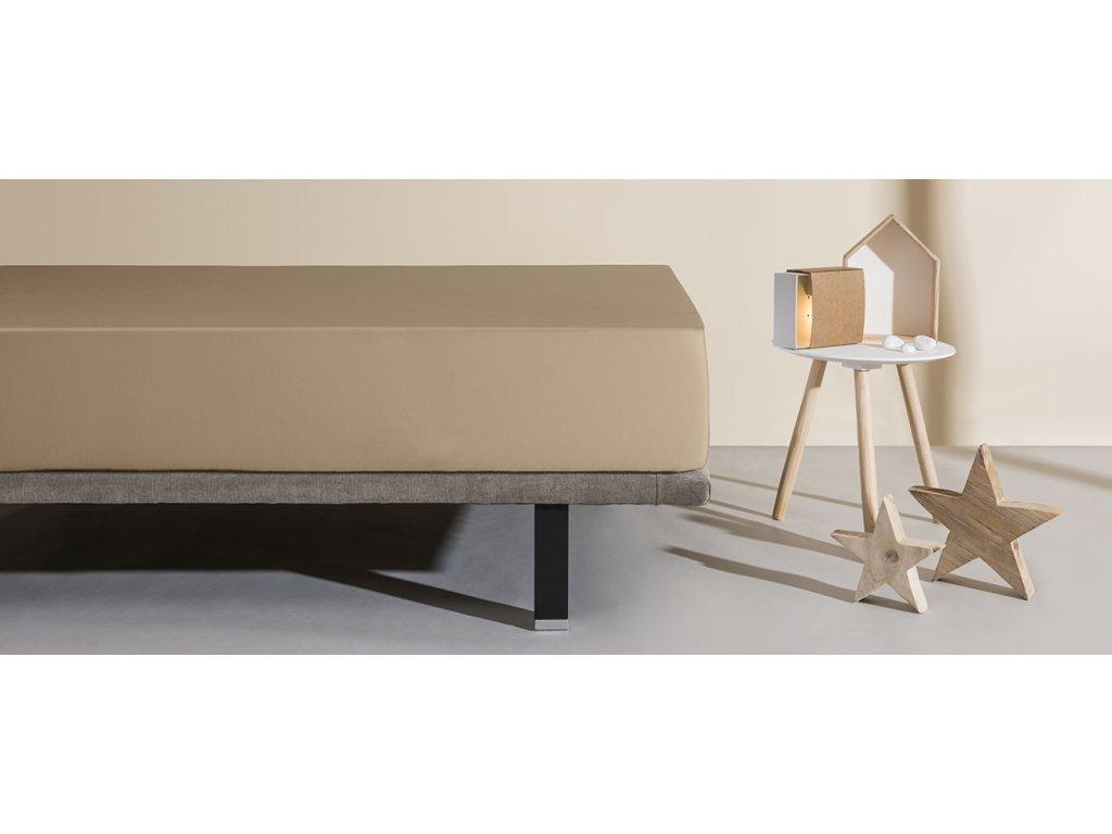 matracový chránič a prostěradlo Aura písková