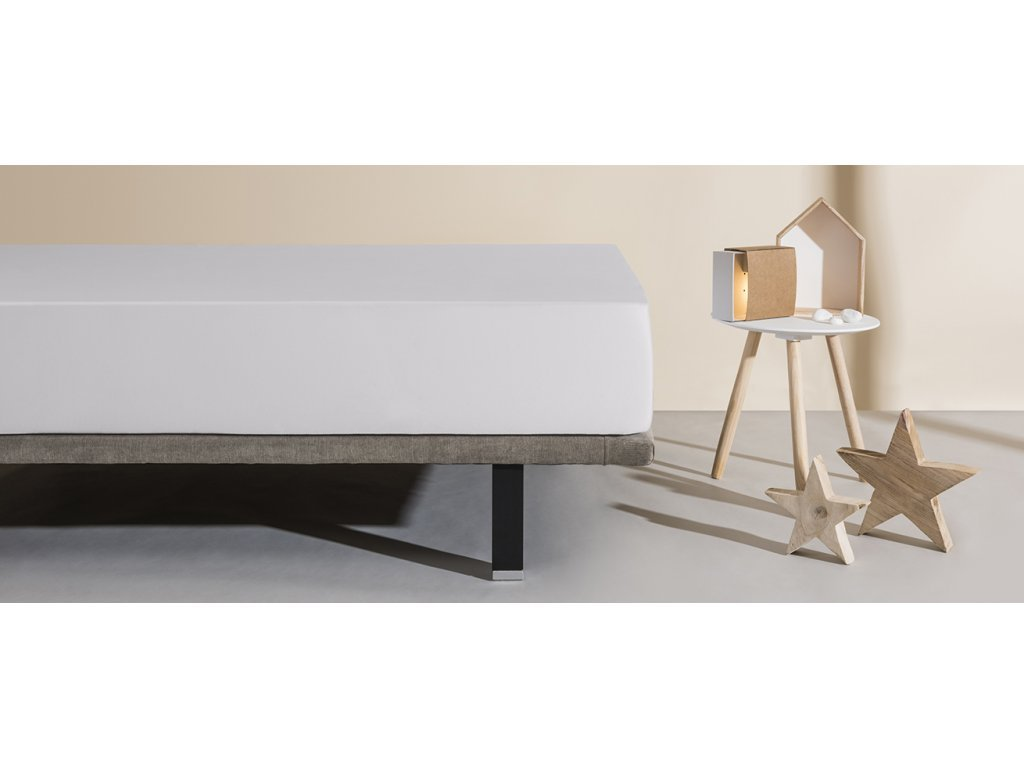 matracový chránič a prostěradlo Aura světle šedá