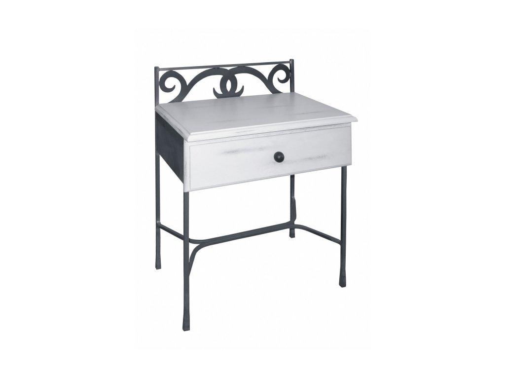kovaný noční stolek se zásuvkou Granada