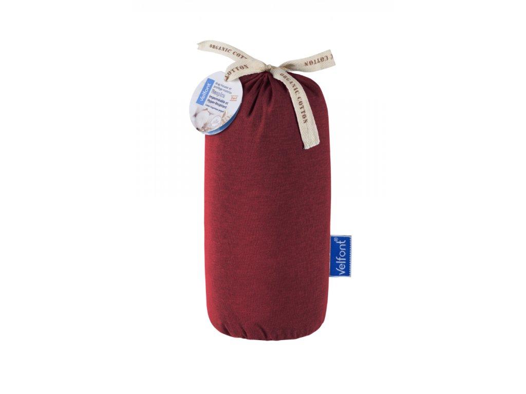6510 velfont hpu respira prosteradlo a matracovy chranic 100x200 cm burgundska cervena