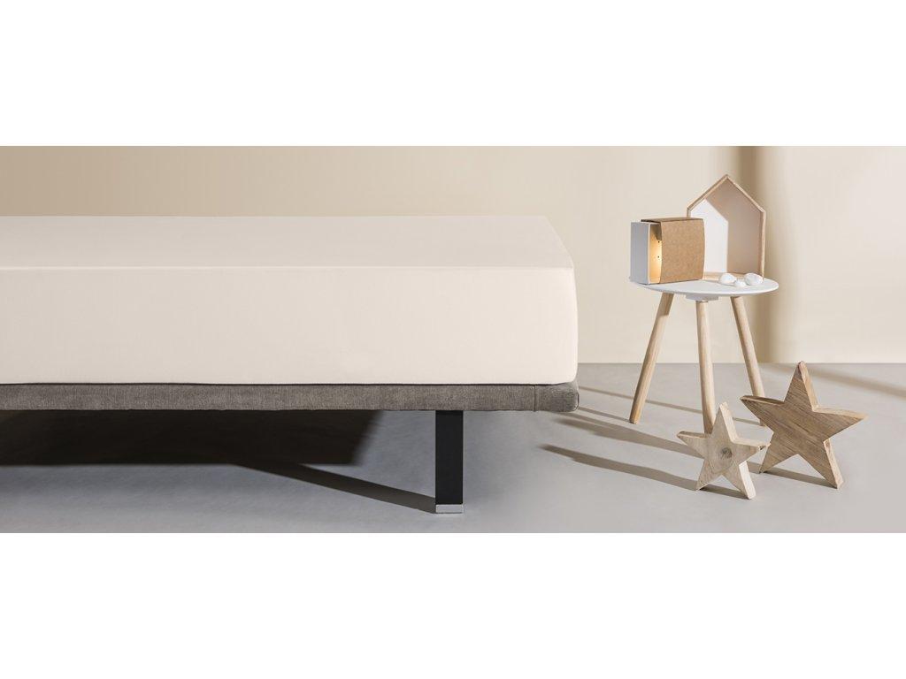 matracový chránič a prostěradlo Aura krémová