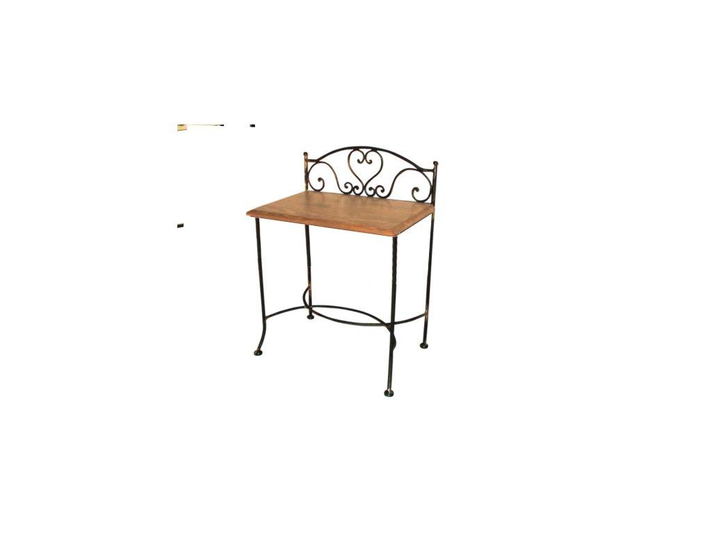 Noční stolek s dřevěnou deskou Malaga