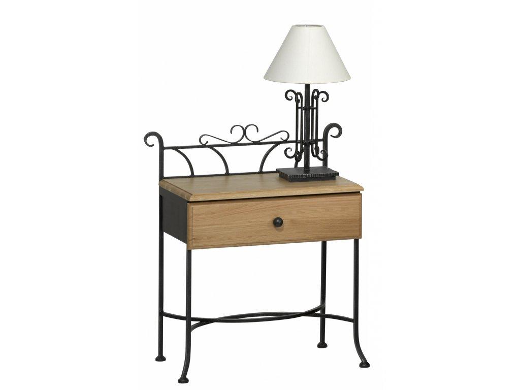 Kovaný noční stolek se zásuvkou ALTEA