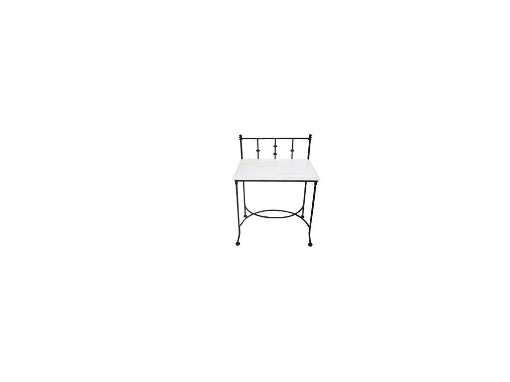 AMALFI kovaný noční stolek s deskou ze dřeva
