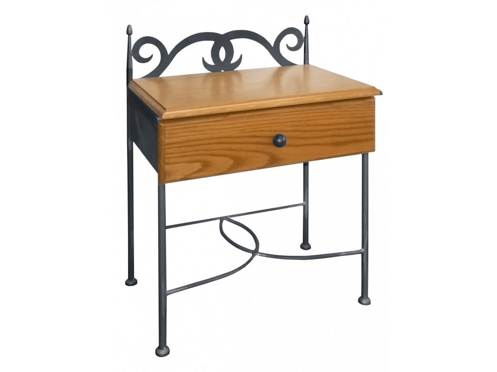 CARTAGENA nocni stolek drevo kov