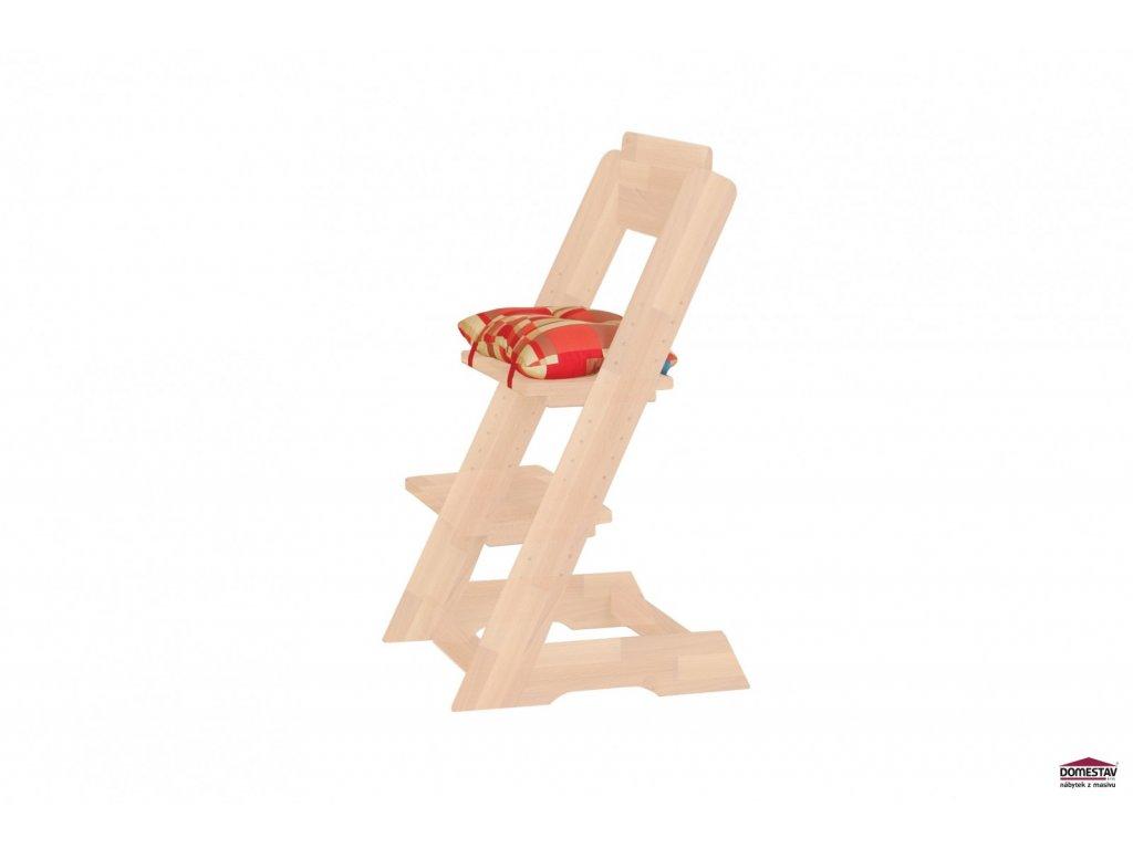 Dětská rostoucí židle KLÁRA 2 buk cink