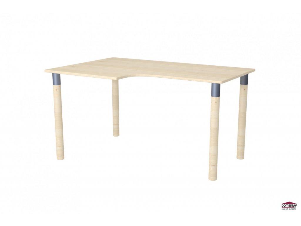 Dřevěný psací stůl Ergo Maxi levý