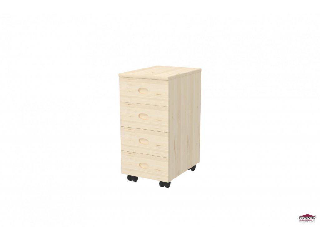Domino kontejner 3-zásuvkový smrk