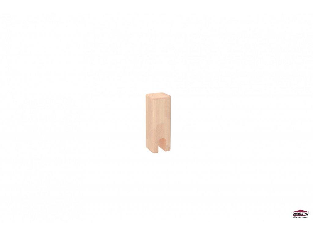 Přídavná noha ke zvýšenému jednolůžku 16,5 cm - buk