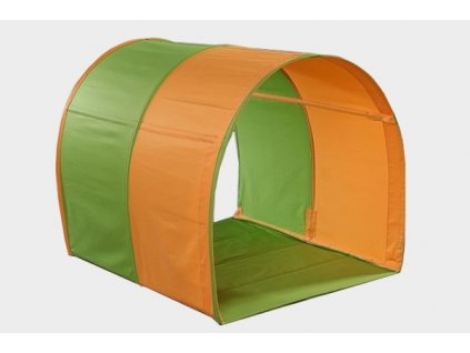 látkový tunel oranžovo zelený