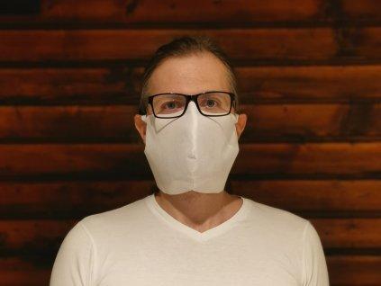 Kolinger obličejová rouška NT maska ústenka univerzální bílá kryje celý obličej