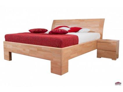 SOFIA manželská postel čelo oblé plné 180 cm buk cink
