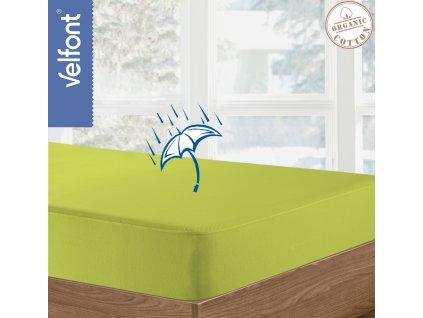 Velfont HPU Respira prostěradlo a matracový chránič 90x200 cm - pistáciová