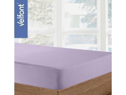 Velfont HPU Respira prostěradlo a matracový chránič 90x200 cm - lila