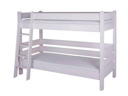 etážová postel sendy palanda buk bílá 155 cm výška