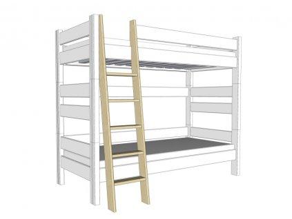 Sendy žebřík k etážové posteli 180 cm