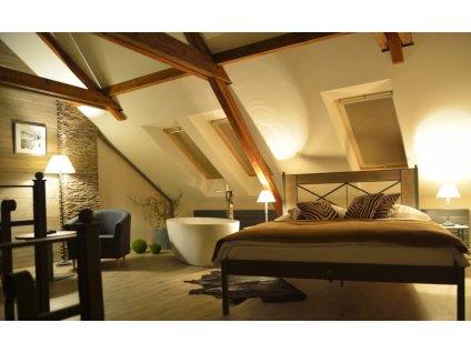 CHAMONIX postel kombinace kov dřevo